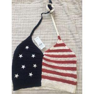 American flag crop top💥